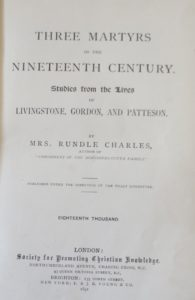 Three Martyrs of the Nineteenth Century